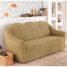 Чехол на диван трехместный без юбки какао O-90