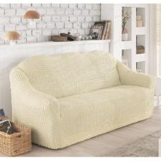Чехол на диван трехместный без юбки шампань O-95
