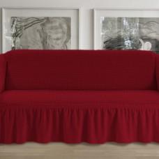 Чехол на четырехместный диван бордовый p001