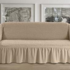 Чехол на четырехместный диван какао p002