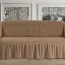 Чехол на четырехместный диван кофе p003