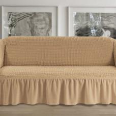 Чехол на четырехместный диван медовый p005