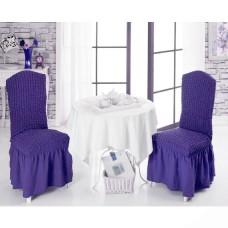 Чехол на стул со спинкой, набор из 6 шт. фиолетовый X-12