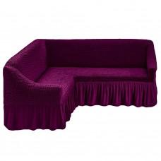 Чехол на угловой диван универсальный фиолетовый M-11