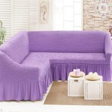 Чехол на угловой диван лиловый M-20