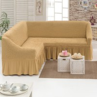 Чехол для мебели на угловой диван 2+3 посадочных мест медовый M-22