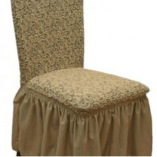 Комплект чехлов на стулья жаккард 4шт. Кофейный