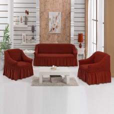 Чехлы на диван и 2 кресла новая жизнь кирпичный S-02