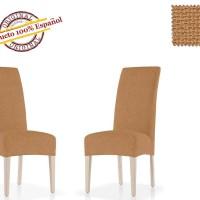 АЛЯСКА - БЕЖ. Европейский чехол на стул со спинкой (2шт)