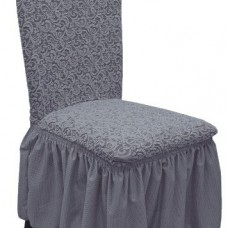 Комплект чехлов на стулья жаккард 4шт. Темно серый