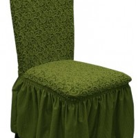 Комплект чехлов на стулья жаккард 4шт. Зеленый