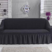 Чехол на диван трехместный темно-серый W-16