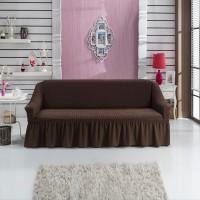 Чехол на диван трехместный коричневый W-04