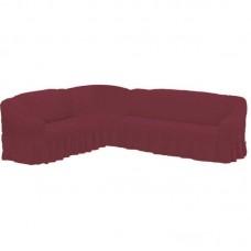 Чехол на угловой диван фуксия M-12