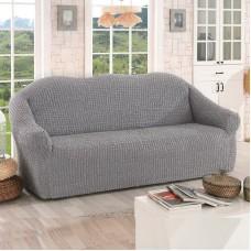 Чехол на диван трехместный без оборки серый O-98