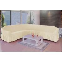 Чехол для мебели на угловой диван 2+3 посадочных мест натурал M-09
