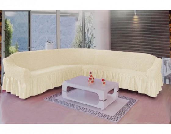Чехол на угловой диван натурал M-09
