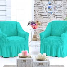 Чехол для кресла комплект 2 шт. бирюзовый G-28