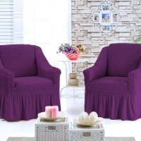Чехол для кресла комплект 2 шт. фиолетовый G-11