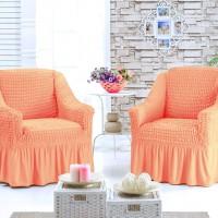 Чехол для кресла комплект 2 шт. персиковый G-22
