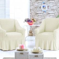 Чехол на кресло универсальное комплект 2 шт.  шампань G-08