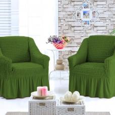 Чехол для кресла комплект 2 шт. зеленый G-14