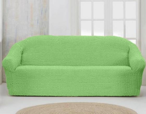 Чехол на четырехместный диван без оборки фисташковый