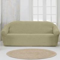 Чехол на четырехместный диван без оборки какао