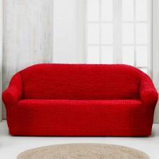 Чехол на четырехместный диван без оборки кирпичный
