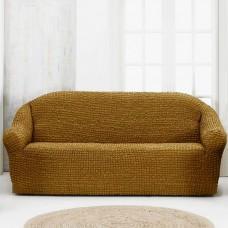 Чехол на четырехместный диван без оборки Корица