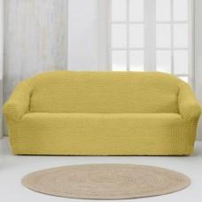 Чехол на четырехместный диван без оборки Медовый