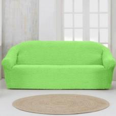 Чехол на четырехместный диван без оборки салатовый