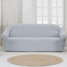 Чехол на четырехместный диван без оборки серый
