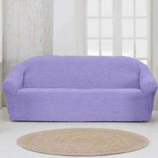 Чехол на четырехместный диван без оборки сиреневый
