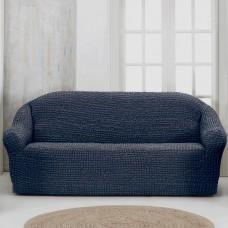 Чехол на четырехместный диван без оборки темно серый