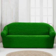 Чехол на четырехместный диван без оборки зеленый