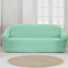 Чехол на четырехместный диван без оборки Бирюзовый