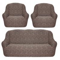 Чехол на диван и 2 кресла жаккард кофе