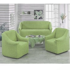 Чехол на диван и 2 кресла без оборки фисташковый MC-05