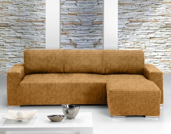 Чехол на угловой диван с выступом справа Европейский БОСТОН - БЕЖ