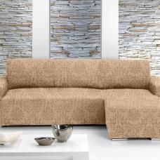 БОГЕМИЯ - БЕЖ. Европейский чехол угловой диван с выступом справа