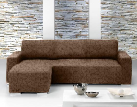Чехол на угловой диван с выступом слева Европейский БОСТОН - МАРОН