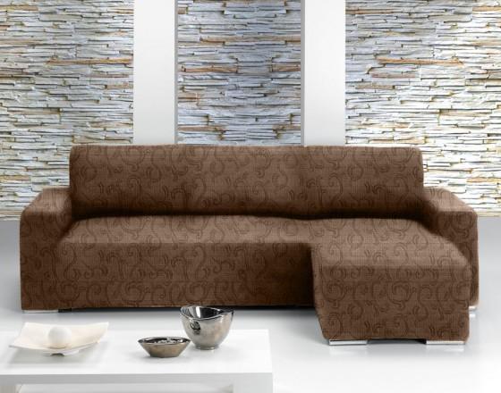 Чехол на угловой диван с выступом справа Европейский БОСТОН - МАРОН