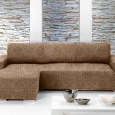БОГЕМИЯ - МАРОН. Европейский чехол угловой диван с выступом слева