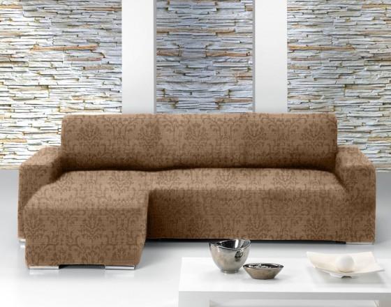 Чехол на угловой диван с выступом слева Европейский БОГЕМИЯ - МАРОН