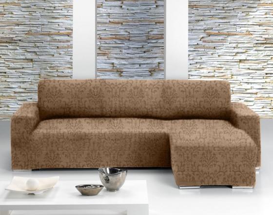 Чехол на угловой диван с выступом справа Европейский БОГЕМИЯ - МАРОН