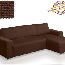 Чехол на угловой диван с выступом справа Европейский АЛЯСКА - МАРОН