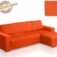 Чехол на угловой диван с выступом справа Европейский АЛЯСКА - НАРАНИЯ
