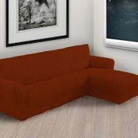 Чехол на угловой диван с правым выступом бордовый P-005