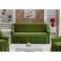 Чехол на диван двухместный зеленый RT-09
